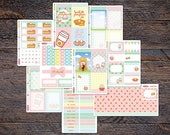 Pumpkin Spice Latte Weekly Kit for Erin Condren Life Planner Sticker Spread Fall Autumn Season pumpkin pie KEF003-Kit