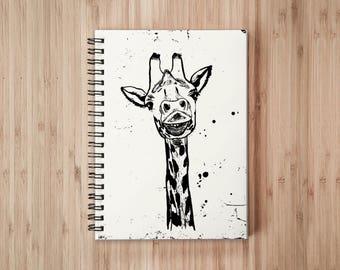 Giraffe Notebook/Sketchbook Wire Bound - Blank pages