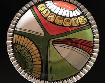 Colorful 8 inch Serving Bowl
