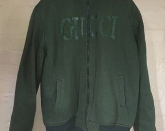 RARE VINTAGE GUCCI faux fir lined mens jacket xxxl