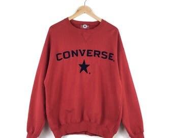 Vintage Converse Big Logo Sweatshirt / Cons Shoes / Converse One Star / Vintage Converse Shirt / Converse Basketball