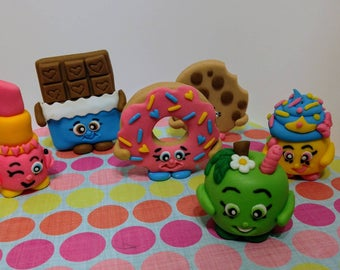 Fondant Shopkins - Shopkins Cake Toppers - Shopkins Birthday Decor