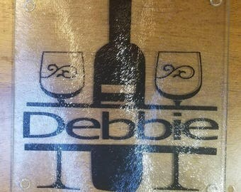 personalized wine and cheese cutting board