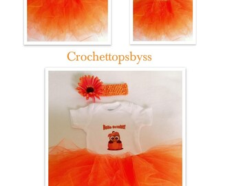 Infant Girls' Hello October Tutu Set