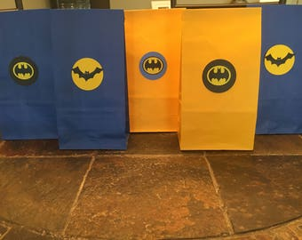 Batman 10 favor bags