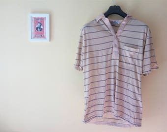 Polo vintage rayas // Beige // Marrón // Años 90 // Indie // Verano // Desert Palm //