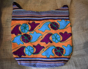 Handmade Embroidered Vintage Bag