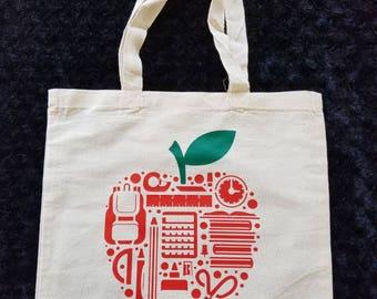 Tote - Inside an Apple