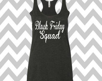 Black Friday Squad Christmas Tank Top Funny Holiday Party Tank Top Ugly Black Friday Tank Top Flowy Racerback Tank Top Ugly Shopping Shirt