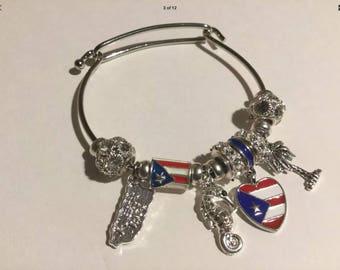 Puerto Rico bracelet dangle