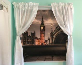 Tea Time In London-Custom Print Roller Shades