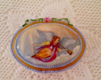 Trinket box with angel painting