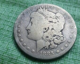 1885S Morgan Silver dollar Semi-key date#O637