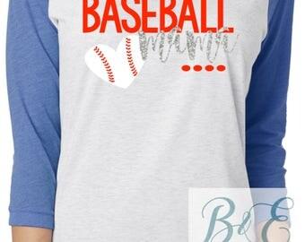 Baseball Mama, Love Baseball Shirt, Baseball Tee, T-Ball Mom, Raglan, Sports Shirt, Fall Shirt
