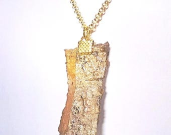 Bark pendant necklace