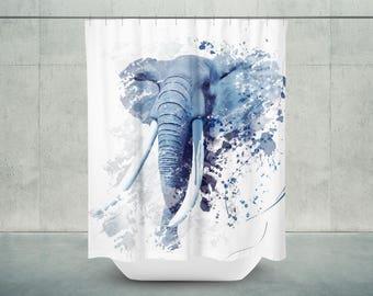Elephant Bath Shower Curtain | Elephant Bathroom Decor | Elephant Bath Decor | Elephant Shower Decor | Elephant Decor | Elephant Bath