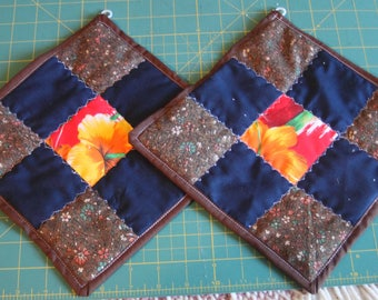 Oversized Quilted Potholders (Set of 2)