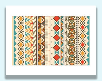 Printable Napkin Rings, Southwestern Decor, Southwest Theme, Paper Napkin Rings, Napkin Bands, Printable Party Decorations, Paper, Party