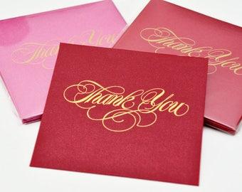 12 Thank You Greetings Card / Gift / Money Envelopes