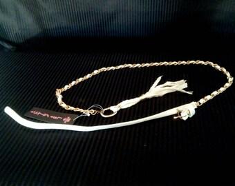 Tassel Belt - White & Gold
