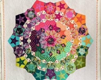 SALE**Tula Nova Quilt Pattern featuring Spirit Animal by Tula Pink Paper Piecing Kit