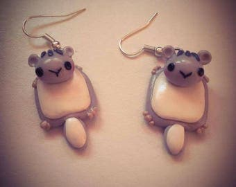 Earrings kawaii squirrel