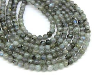 Gray Labradorite Beads 6mm 8mm Natural Gray Gemstone Beads Genuine Labradorite Blue Flash Gray Mala Beads Labradorite