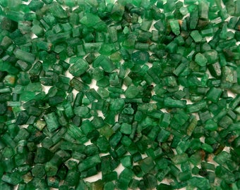 Emerald Pieces | Emerald Crystals | Emeralds | Raw | Rough | Green Emeralds | Emerald Lot | Panjshir Valley | Afghanistan | Sold by gram