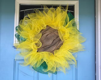 Sunflower wreath.  Simple but cute.  Great for summer