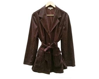 Vintage Jacket SHIRT//brown//vintage clothing//handmade//calamity vintage//suede//Vintage jacket//unisex//Polyester