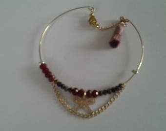 Gold plated Bangle has charms
