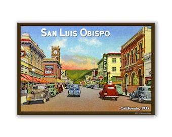 San Luis Obispo 1935 - On The Road To California