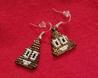 Poop emoji earrings