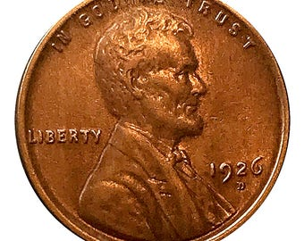 1926 D Lincoln Wheat Cent / Penny - AU  - Almost Uncirculated