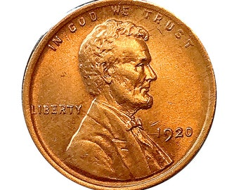 1920 P Lincoln Wheat Cent - Gem BU / MS RD / Unc