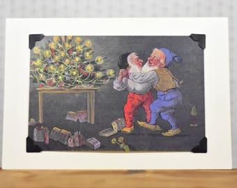Vintage LGBTQ+ Card - Christmas elves, holiday party invitation, gay elves, Christmas card, holiday card, Santa's helpers card
