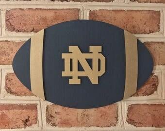 Notre Dame football man cave 3d sign unique!
