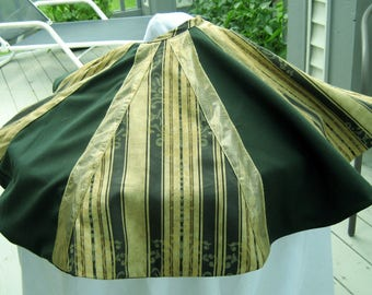 Christmas Tree Skirts, Small or Medium Dark Green and Gold Tree Skirts,Table Top Tree Skirts, Tall Slim Tree Skirts, Christmas Decorations