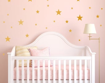 Confetti Star Wall Decal - Set of 135 - Wall Sticker - Nursery Kids Decal Pattern | PP109