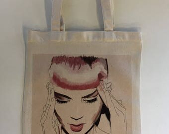 Grimes Tote With Original Artwork By Brandy Mars