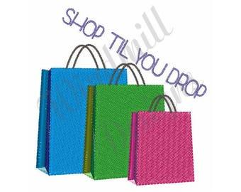 Shop Til You Drop - Machine Embroidery Design
