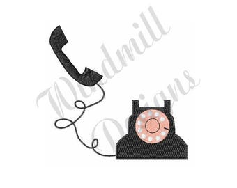 Ring! Telephone! - Machine Embroidery Design