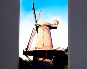 "Fine Art Photography ""Dutch Windmill"" Archival Print"