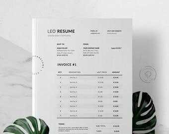 Sugarcrm Invoice Invoice Template  Etsy Invoice Inventory Word with Receipt Pronunciation Excel Invoice Template For Photoshop And Ms Word  Billing Template  Receipt  Design  Printable Template Lic Premium Paid Receipt Pdf