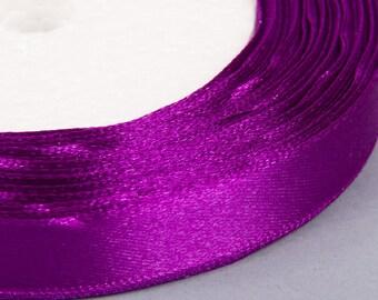 20 meters of 12mm purple satin ribbon