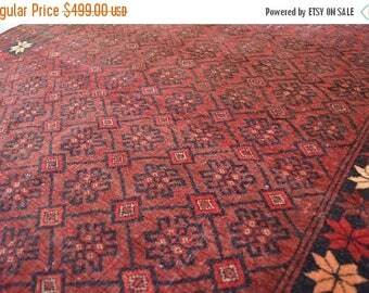 52% HOTSALE LA293, Afghan Old Tribal Turkoman Bostan Naqsha Rug 3'7 x 5'2 Ft