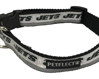 New York Jets Reflective Dog Collar