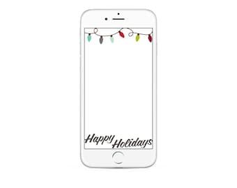 Happy Holiday Snapchat GeoFilter