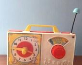 Vintage Fisher Price Toy Radio