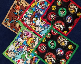 Nintendo Mario,Luigi, Donkey Kong and Yoshi Kitchen Pot Holder (Hot Pad)